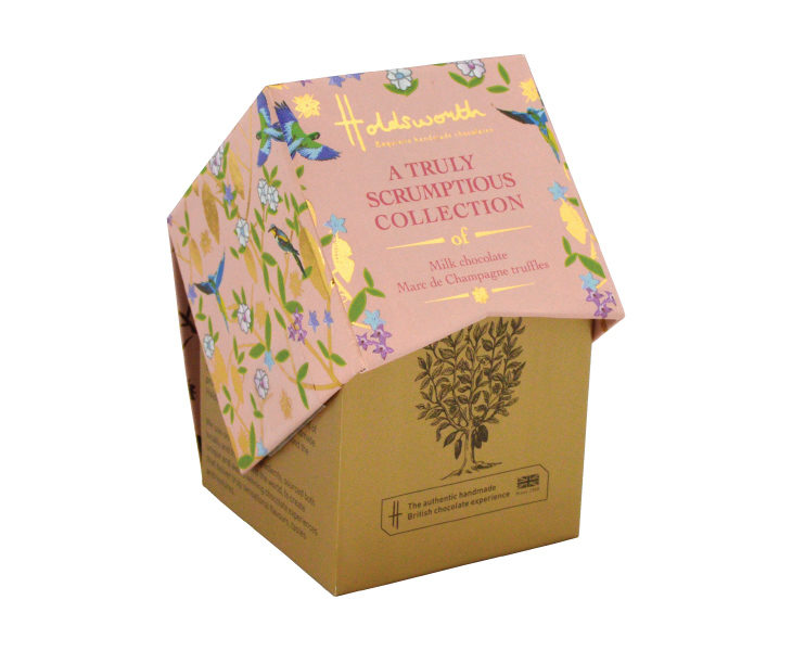 A Petite Box of Milk Chocolate Marc de Champagne Truffles 55g