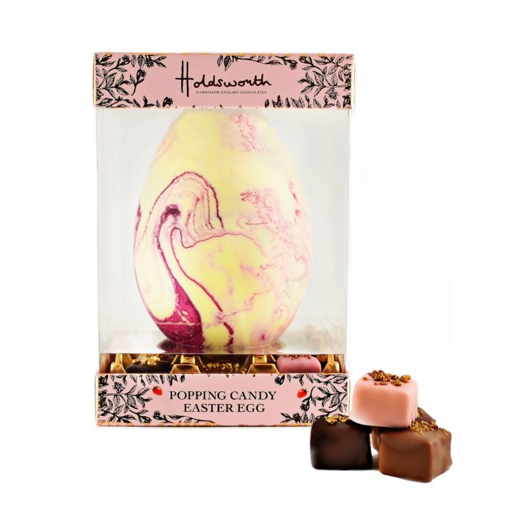Holdsworth Chocolates Easter egg strawberry & popping candy