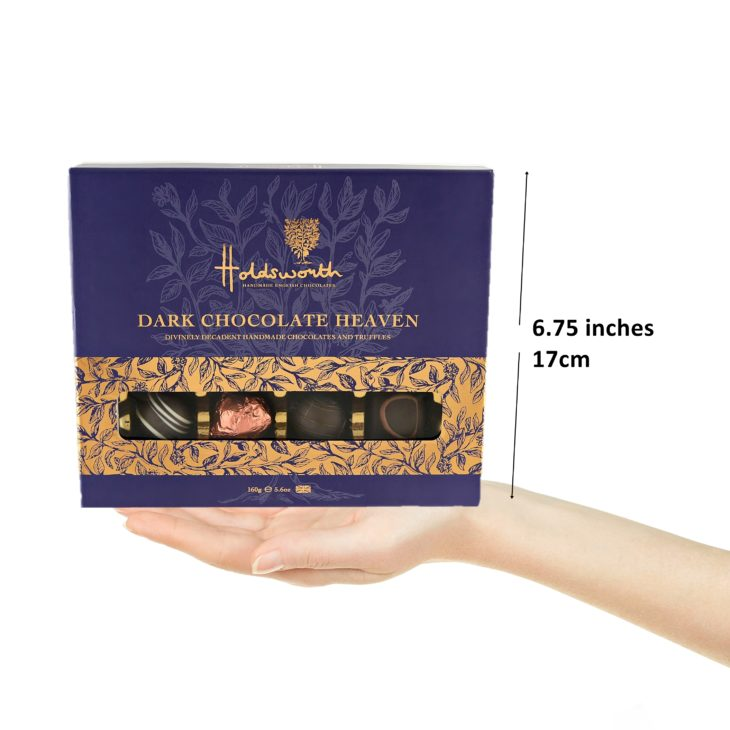 Dark Chocolate Heaven 160g Box size