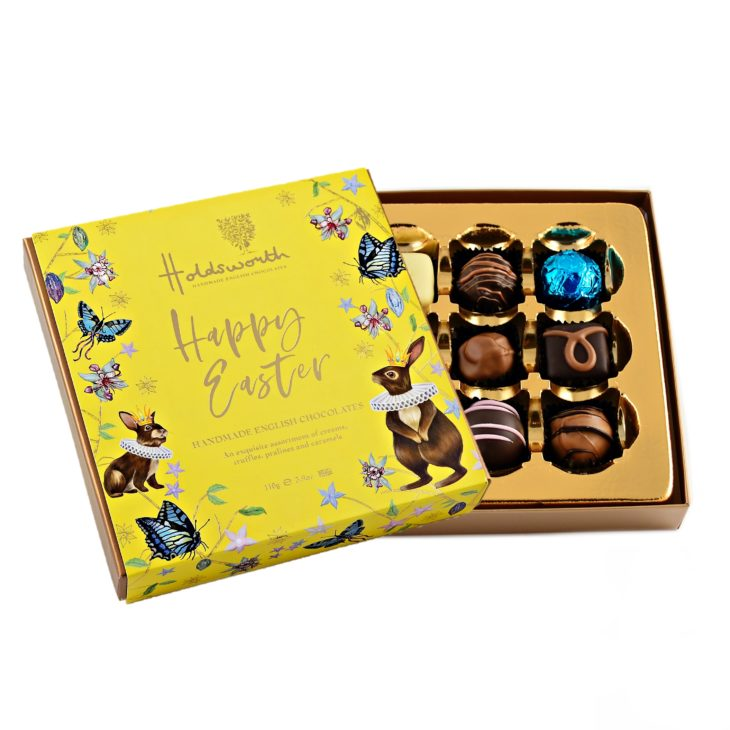 Happy Easter gift box open